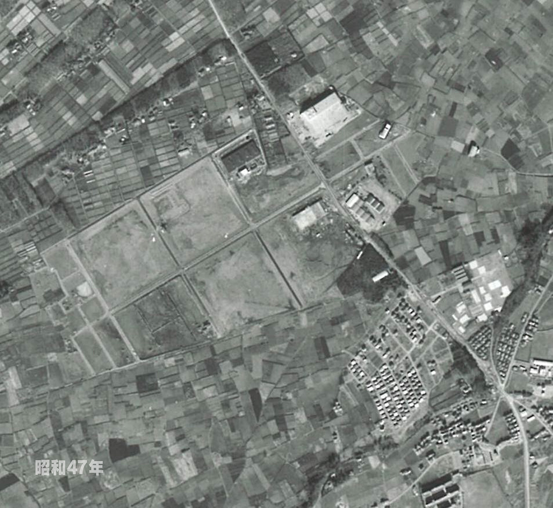狭山工業団地工業会 航空写真(1972年)