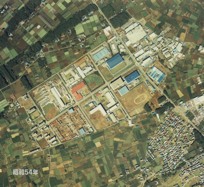 狭山工業団地工業会 航空写真(1979年)