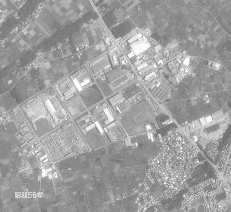 狭山工業団地工業会 航空写真(1981年)