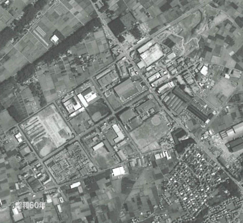 狭山工業団地工業会 航空写真(1985年)