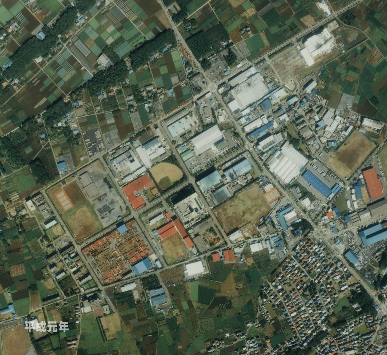 狭山工業団地工業会 航空写真(1989年)