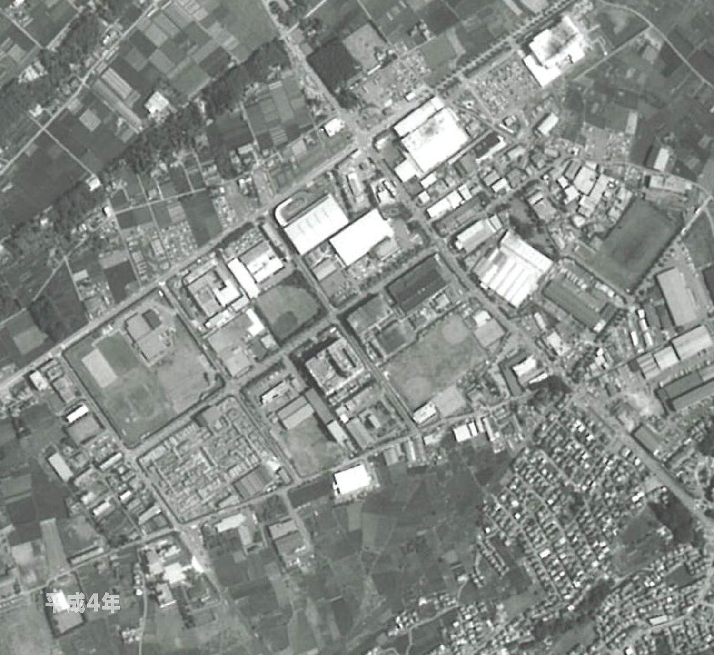 狭山工業団地工業会 航空写真(1992年)