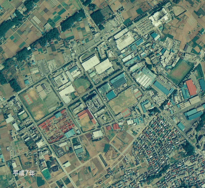 狭山工業団地工業会 航空写真(1995年)
