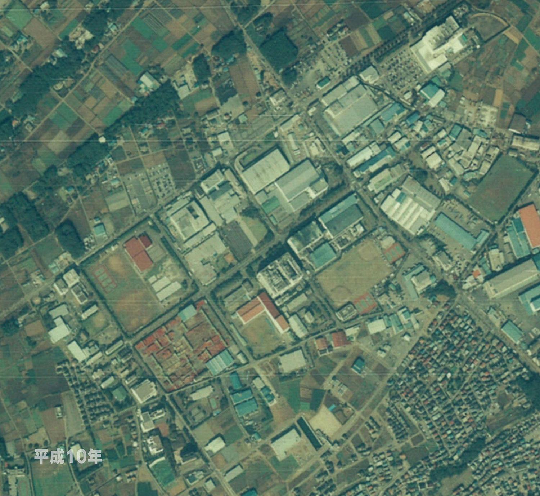 狭山工業団地工業会 航空写真(1998年)