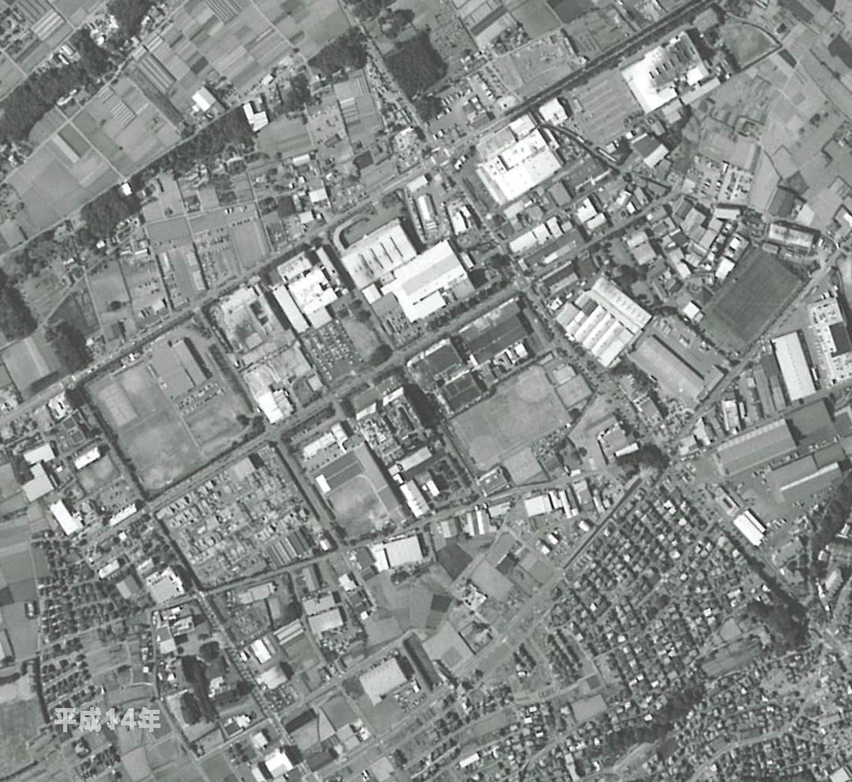 狭山工業団地工業会 航空写真(2002年)